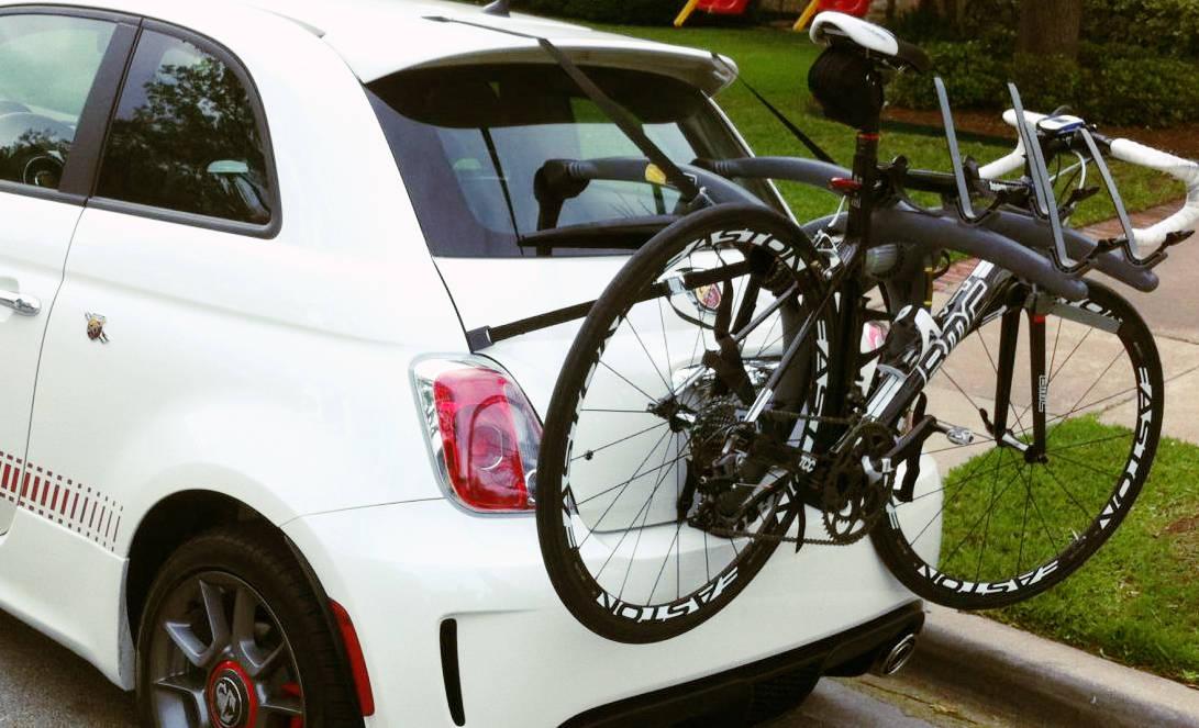 Adjustable Hitch Receiver >> Fiat 500 Bike Rack - Modern Arc Based Design Holds 2 or 3 ...