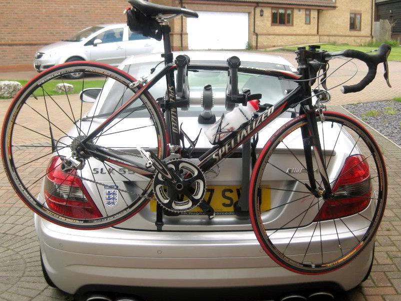 Mercedes slk 55 amg bike rack car bike racks bike carriers for Mercedes benz bike