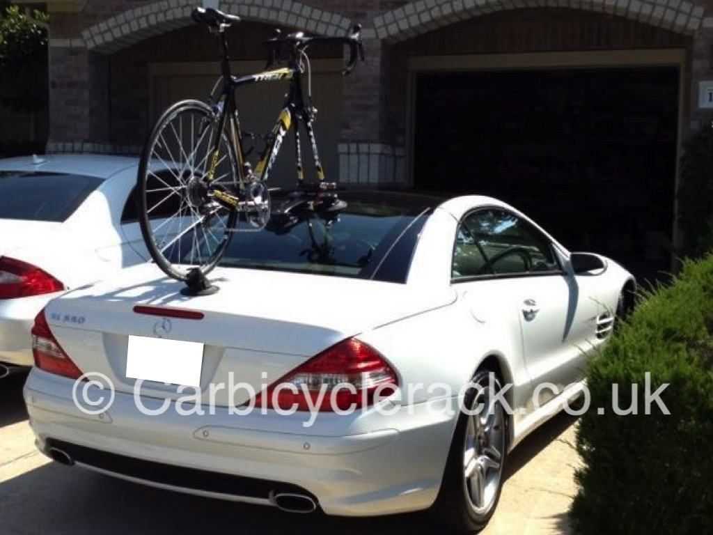 Mercedes sl bike rack no bolts no straps no hassle for Mercedes benz bicycle rack
